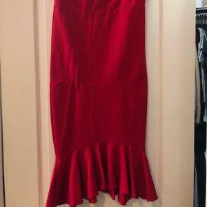 Fashion Nova red dress size XL
